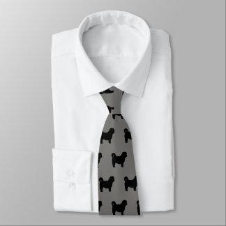 Corbatas El perro de Shih Tzu siluetea el modelo