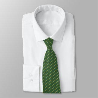 Corbatas El verde caqui y el lazo rayado oro de los hombres