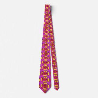 Corbatas Flor floral artística abstracta colorida de la