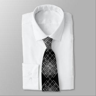Corbatas Geométrico blanco y negro