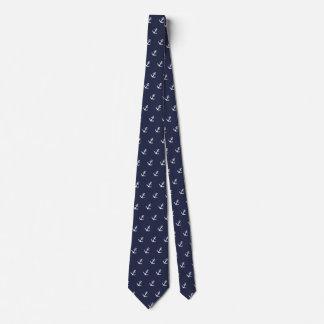 Corbatas Lazo azul y blanco náutico del ancla