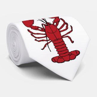 Corbatas Lazo blanco rojo de la langosta linda