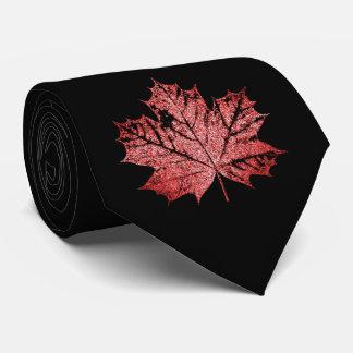 Corbatas Lazo canadiense de la hoja de arce