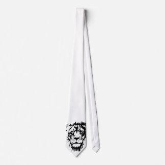 Corbatas Lazo con la impresión blanco y negro Leo