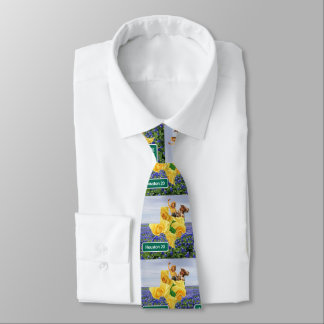 Corbatas Lazo de Houston de la vaquera del rosa amarillo de