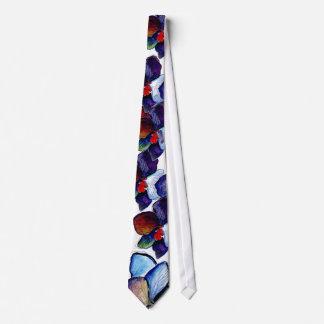 Corbatas Lazo de la orquídea azul dos con el fondo blanco
