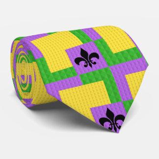 Corbatas Lazo modelado carnaval con la flor de lis