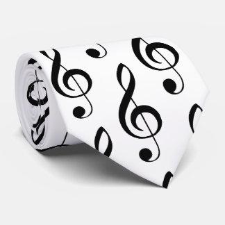 Corbatas Lazo musical del Clef agudo