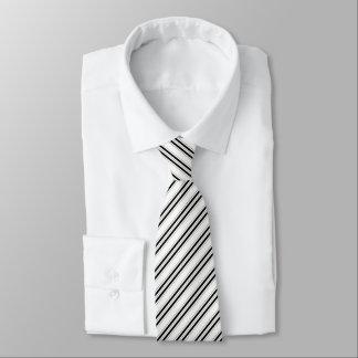 Corbatas Lazo negro corporativo del modelo rayado