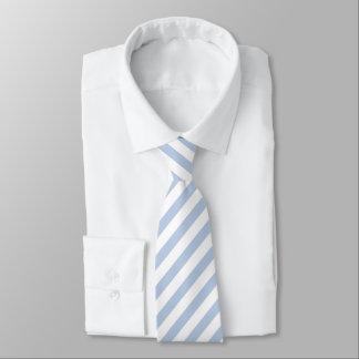 Corbatas Lazo rayado azul claro/blanco