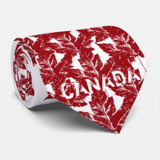 Corbatas Lazo rojo de la hoja de arce del vintage del lazo