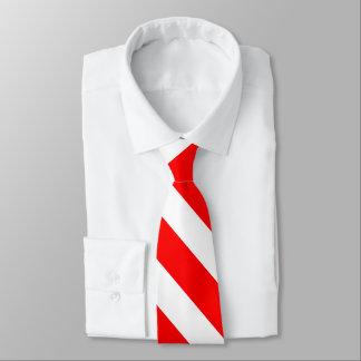 Corbatas Lazo rojo y blanco de la raya de la universidad