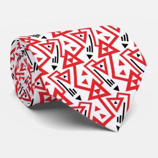 Corbatas Modelo geométrico rojo y negro brillante