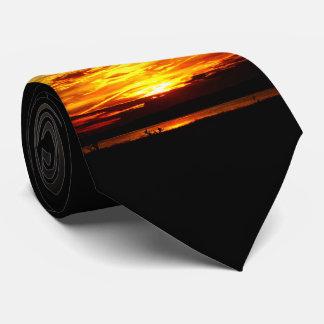 Corbatas Naturalezas mejores - puesta del sol del lago