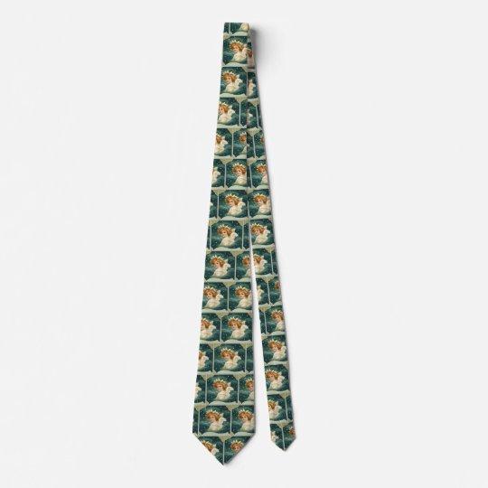 Corbatas Navidad del vintage, ángel del Victorian con las