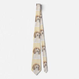 Corbatas Perro de aguas de saltador inglés que pinta arte
