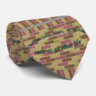 Corbatas Personalizadas 17mo Cita; Respire de largo, lento, y fácil…