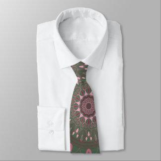 Corbatas Personalizadas Aceituna adornada de la mandala de Boho