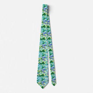 Corbatas Personalizadas Agua del verde azul del mar del océano de la alga