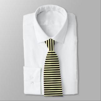 Corbatas Personalizadas Amarillo claro y rayas negras