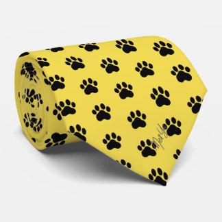 Corbatas Personalizadas Amarillo sedoso dibujado mano elegante de la miel