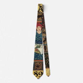 Corbatas Personalizadas Arte Nouveau, libro del vintage de la astrología