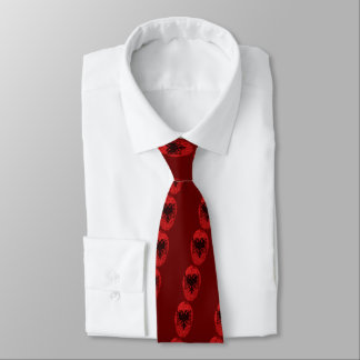 Corbatas Personalizadas Bandera albanesa de la huella dactilar del tacto