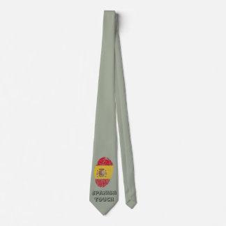 Corbatas Personalizadas Bandera de la huella dactilar del tacto del