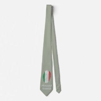Corbatas Personalizadas Bandera italiana de la huella dactilar del tacto