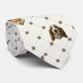 Corbatas Personalizadas Basset Hound y Fox