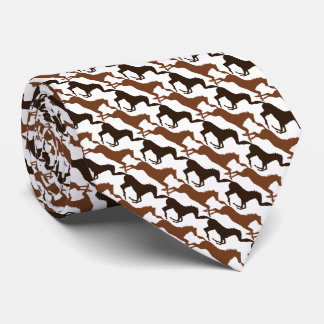 Corbatas Personalizadas Caballos de Brown en el rosa modelado