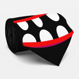Corbatas Personalizadas cara feliz de la sonrisa del monstruo negro