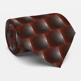 Corbatas Personalizadas Círculo punteado clarete