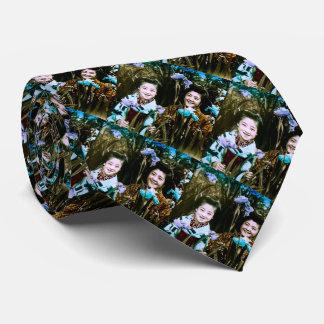 Corbatas Personalizadas Colegialas japonesas en el vintage del jardín