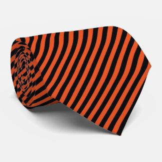 Corbatas Personalizadas Color de fondo del negro y del naranja el   DIY de