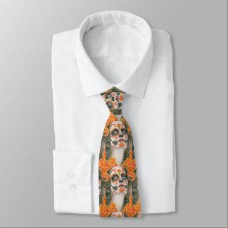 Corbatas Personalizadas Día del cráneo muerto del azúcar con las