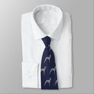 Corbatas Personalizadas El galgo italiano siluetea el modelo
