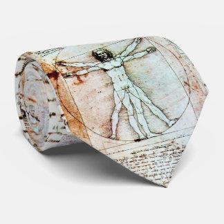 Corbatas Personalizadas El HOMBRE de VITRUVIAN, pergamino antiguo de Brown