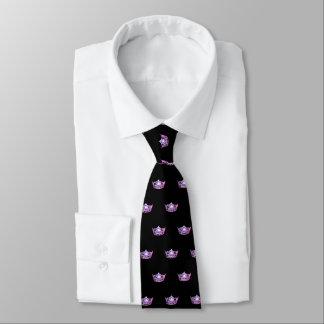 Corbatas Personalizadas El lazo de los hombres rosados de la corona de