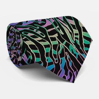 Corbatas Personalizadas Estampado de animales psicodélico del tigre que