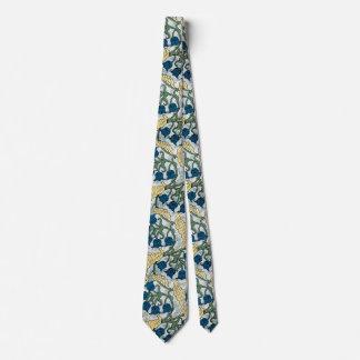 Corbatas Personalizadas Estampado de flores de repetición azul