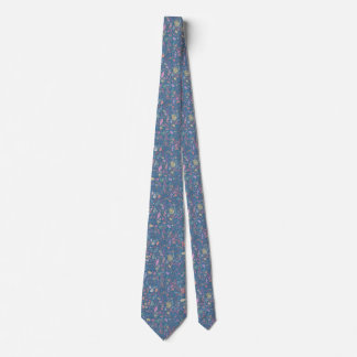 Corbatas Personalizadas Flores multicolor acuarelas suaves