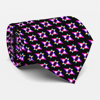 Corbatas Personalizadas Fondo negro de los triángulos locos