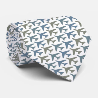 Corbatas Personalizadas Gris de Armani del lazo del aeroplano en blanco