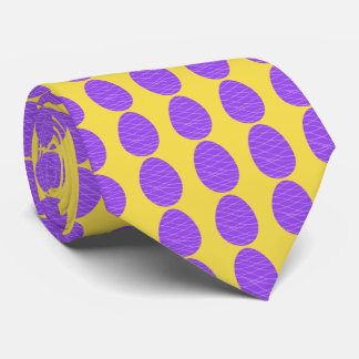 Corbatas Personalizadas Huevos de Pascua púrpuras