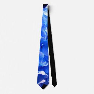 Corbatas Personalizadas Hydrangea del azul de cobalto