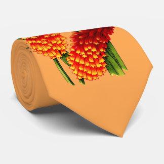 Corbatas Personalizadas impresión de las flores del póker candente