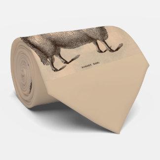 Corbatas Personalizadas Impresión del siglo XIX de las ovejas del espolón