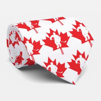 Corbatas Personalizadas Jugador de la hoja de arce del hockey de Canadá