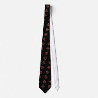 Corbatas Personalizadas La cruz de Jerusalén - parte posterior del negro
